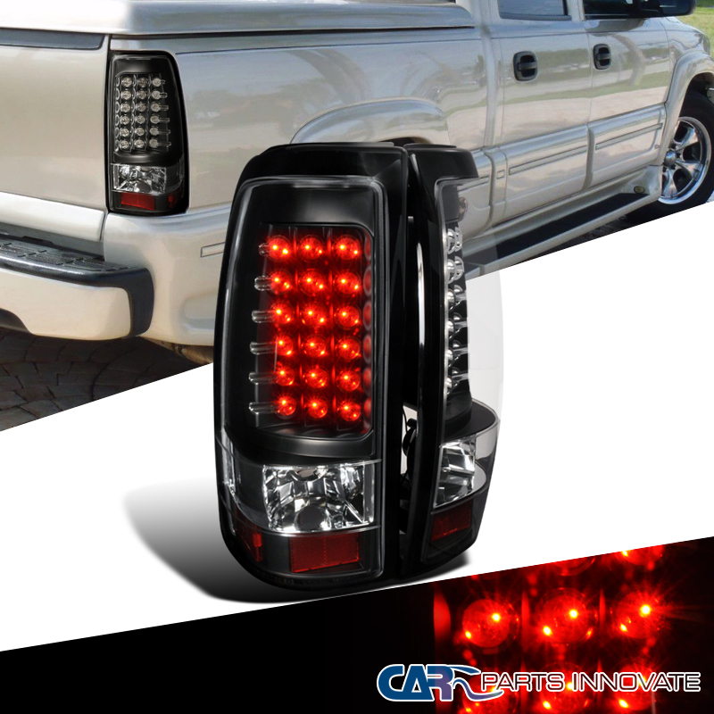 2003 2006 silverado led black tail lights rear brake lamps. Black Bedroom Furniture Sets. Home Design Ideas