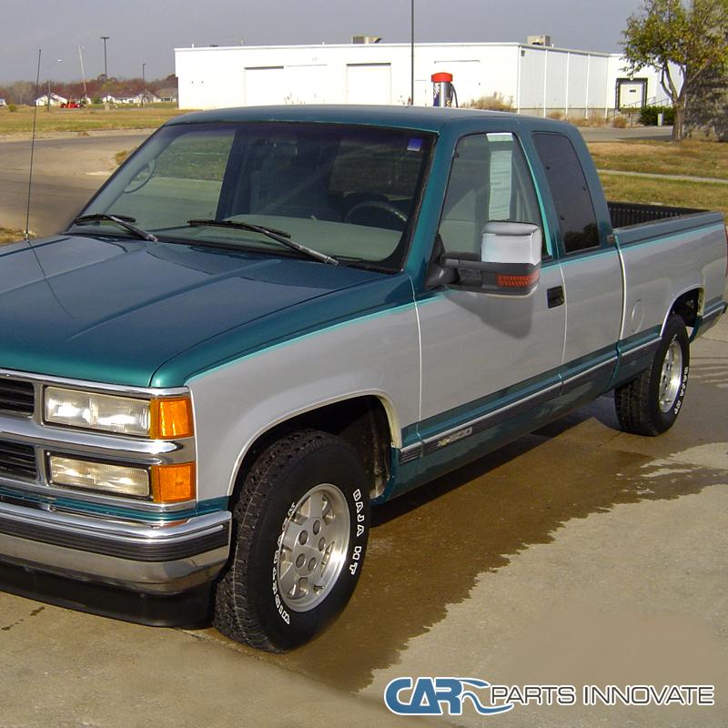 1992 Gmc Rally Wagon 1500 Exterior: 88-98 C10 C/K Tahoe Suburban Power Towing Mirrors+LED