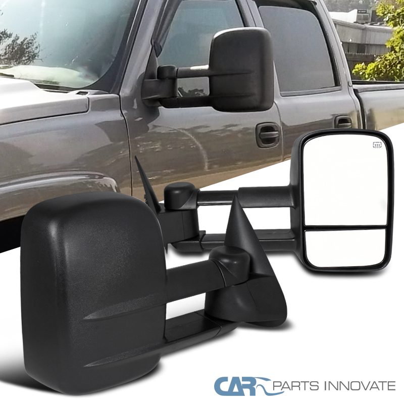 2003 2007 chevy silverado gmc sierra power heated extending towing mirrors ebay. Black Bedroom Furniture Sets. Home Design Ideas