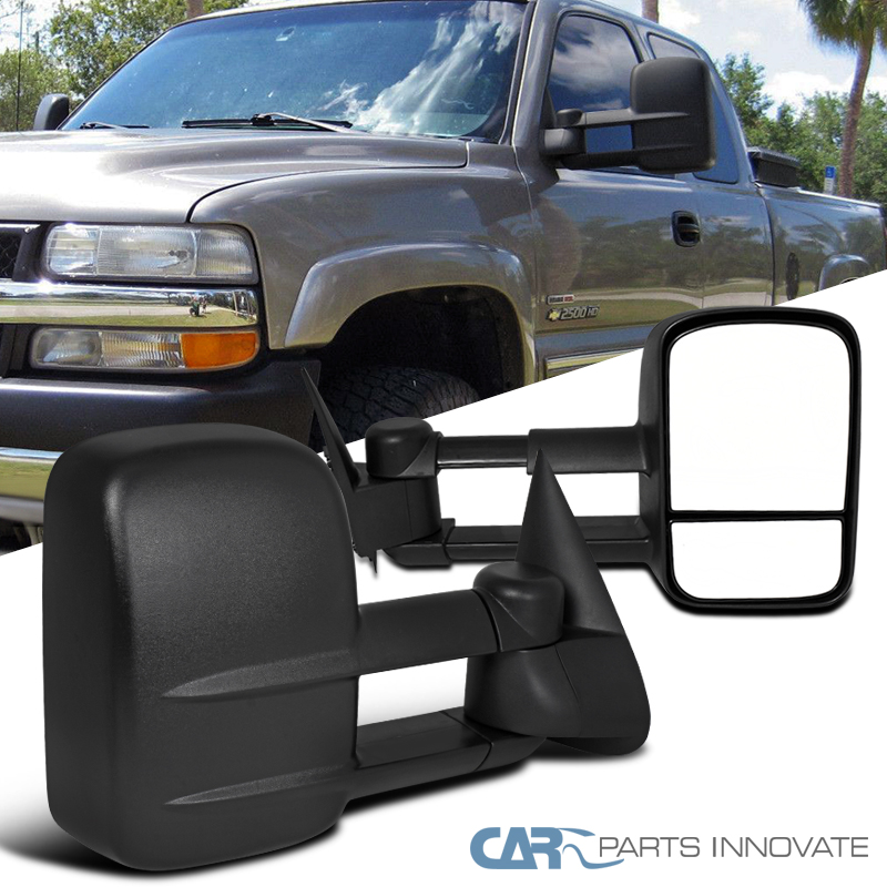 1999 2007 chevy silverado gmc sierra pickup manual extending towing mirrors ebay. Black Bedroom Furniture Sets. Home Design Ideas