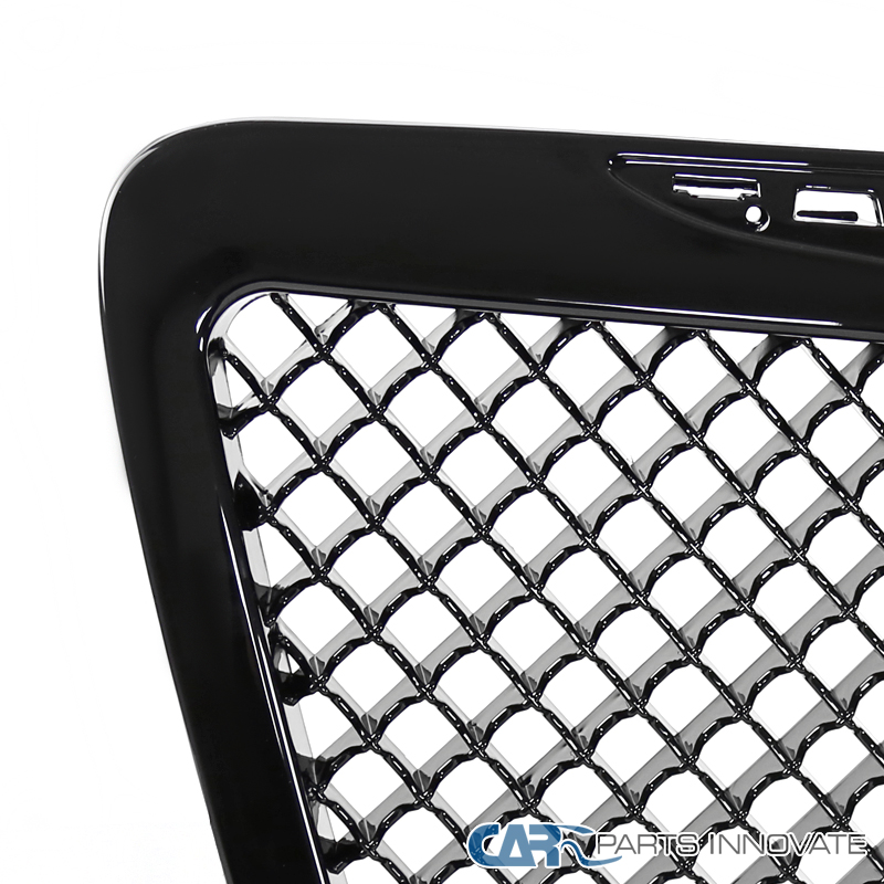 2011 2014 Chrysler 300 300c Fog Light Stainless Steel Mesh: 11-14 Chrysler 300 300C Front Insert Glossy Black ABS Mesh