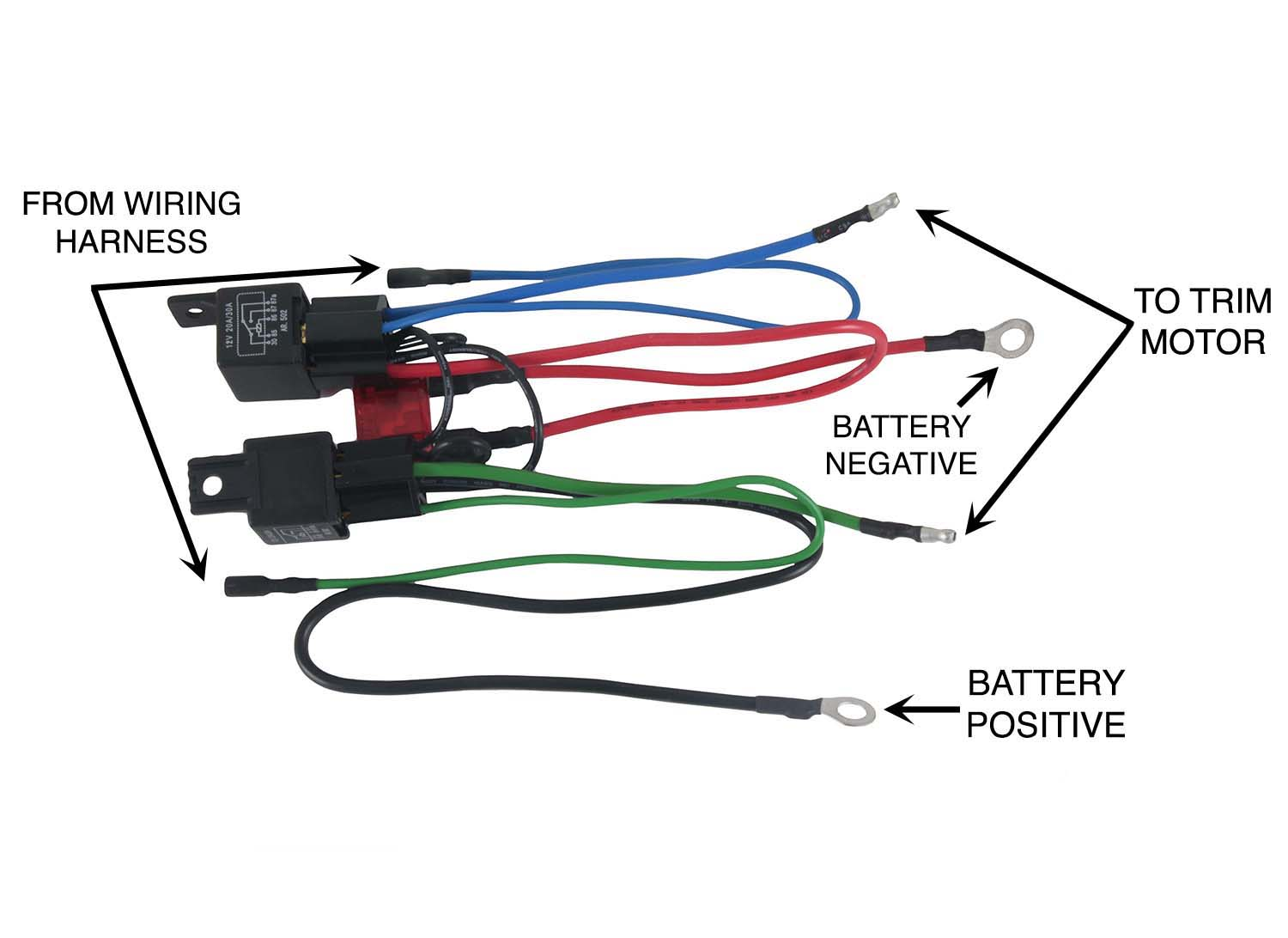new wiring harness convert 3 wire tilt trim motor to 2 ... schematic wiring 3 wire cable