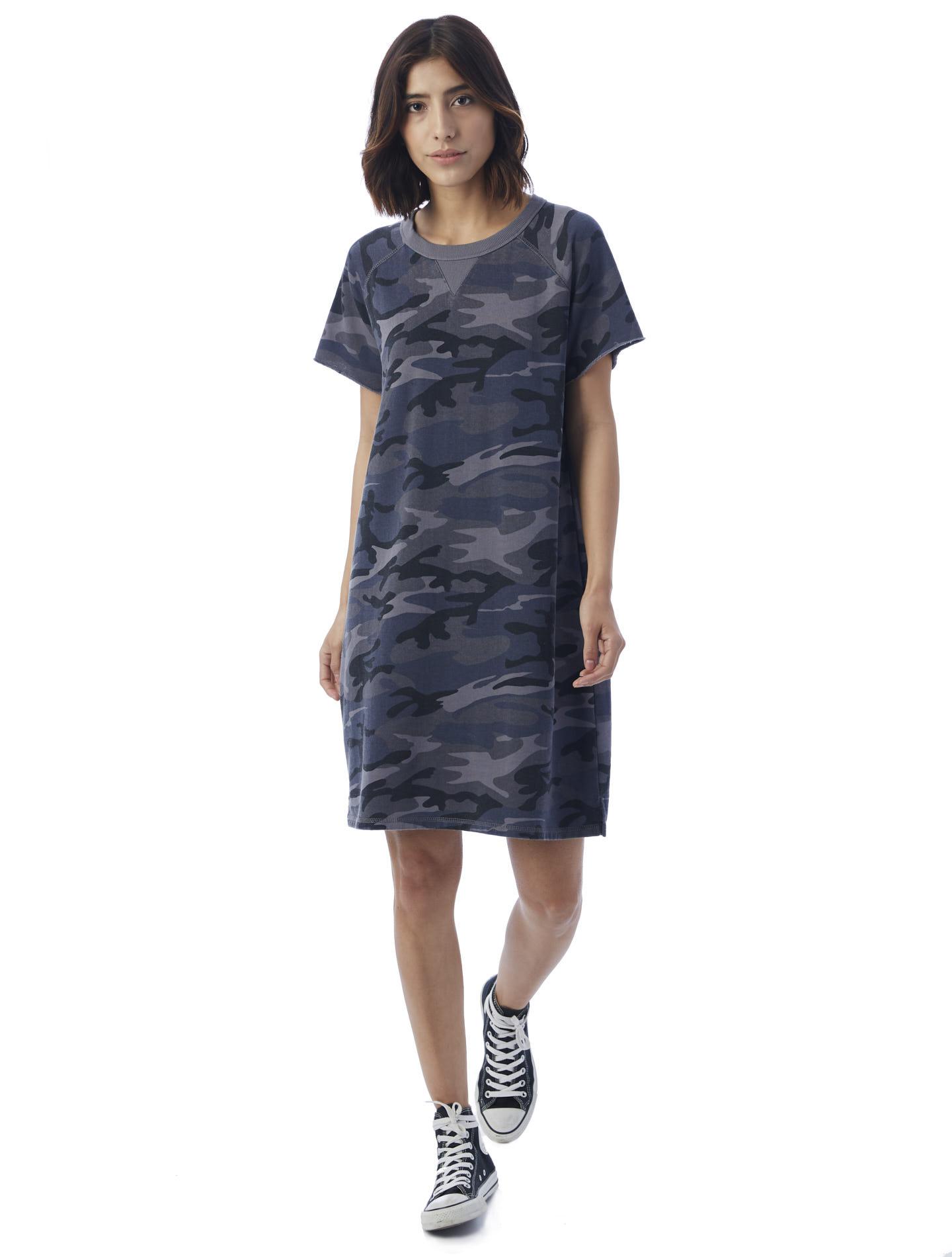 Gym Rat Printed Burnout French Terry Sweatshirt Dress