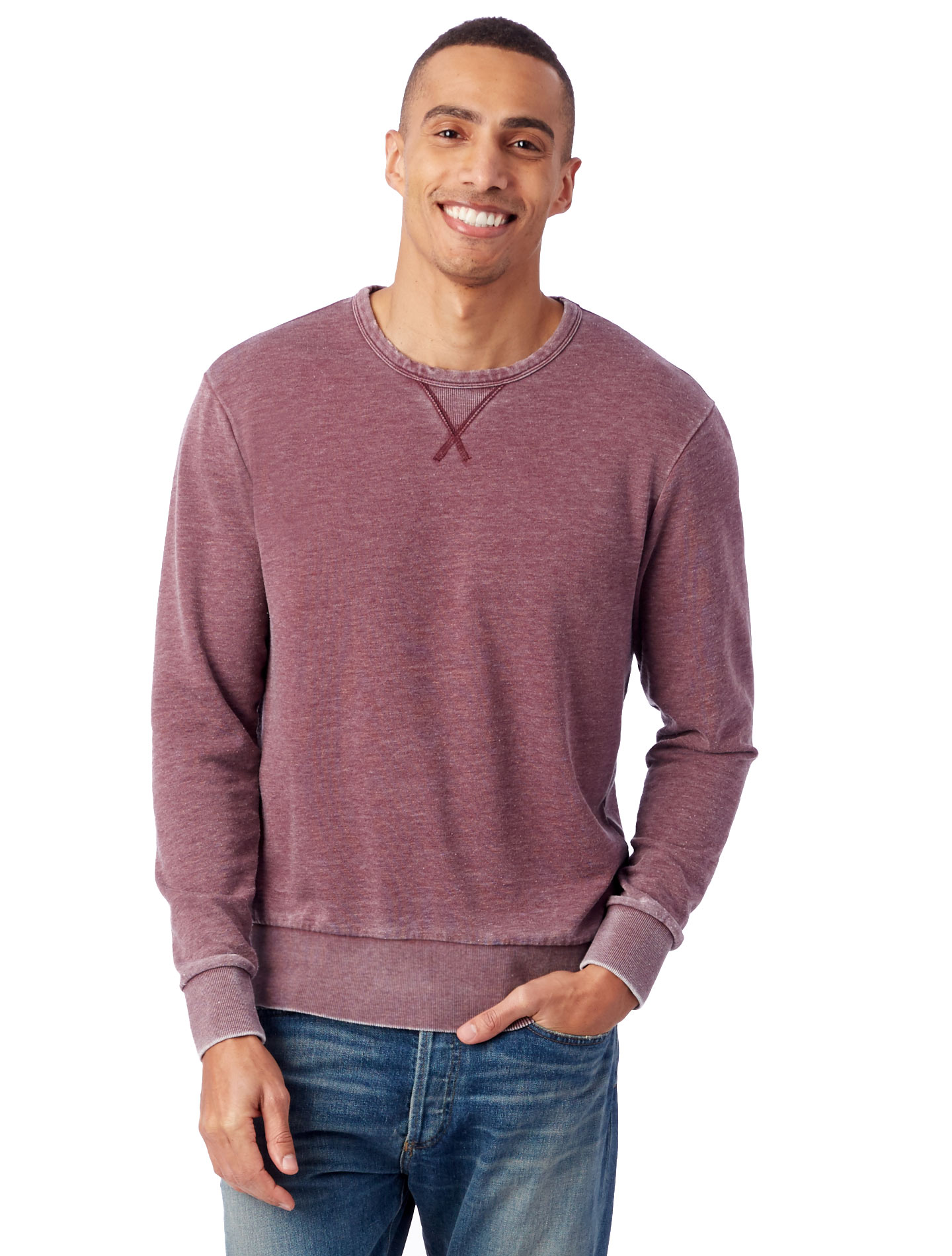 Looking this cool has never been easier (or more comfortable). This crewneck is made with our super-soft Burnout French terry for an authentically worn-in look & feel.
