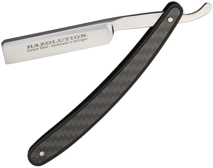 Navaja  Recta Razolution SBT88171 6.375  Hoja Recta Mango De Aluminio Negro  precioso