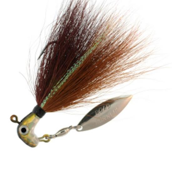 Lot 3 Blakemore BP-18-019 Bucktail Pro Runner 1//8 oz Pearl /& Gray
