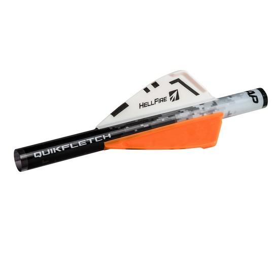 """6 Pack NAP 60-015 White//Orange 3/"""" Quickfletch Hellfire Standard 33 Grains"""