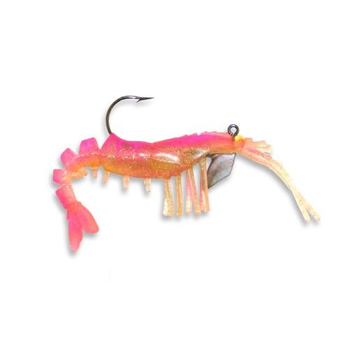 """Egret E-VS20-16-16 Vudu Shrimp White Chartreuse 2/"""" Soft Plastic Fishing Lure"""