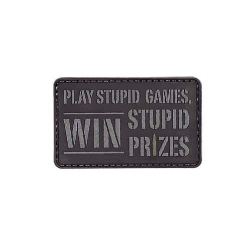 83ce51db2643 Tru-Spec 6657000 Morale Pvc Play Games Win Stupid Prizes Backpack Hook Patch
