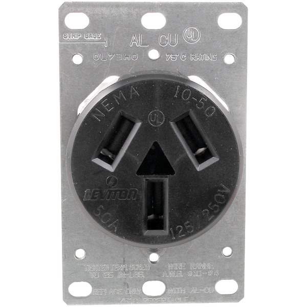 GE WIRING DEVICES FLUSH RANGE RECEPTACLE 50A GE4152-3