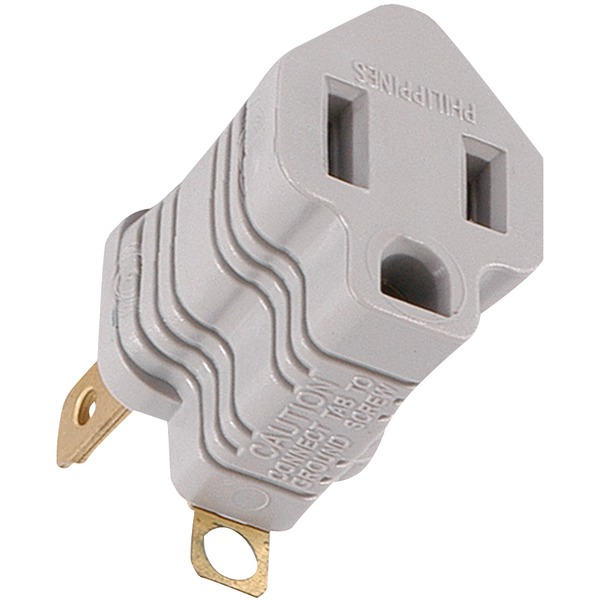 Ge 58900 Polarized Grounding Adapter Plug  Gray  For Sale Online