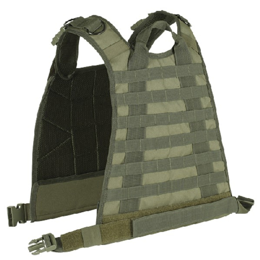 Voodoo Tactical High Mobility Plate Carrier with Adjustable Shoulder Straps Ice