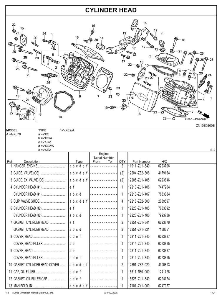 honda gx670 wiring diagram gx670 general purpose engine parts catalog honda power products  gx670 general purpose engine parts
