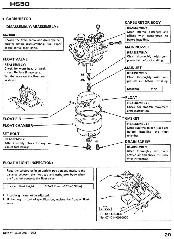 honda hs50 snow blow throw service repair shop manual honda power rh publications powerequipment honda com