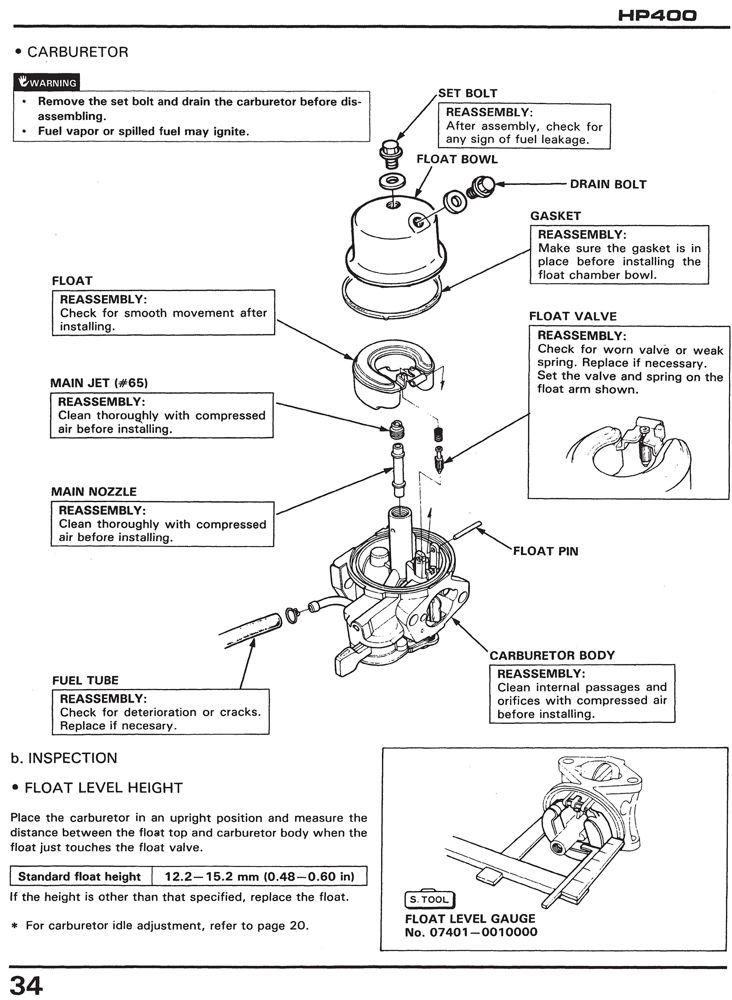 honda hp400 power carrier service repair shop manual honda power rh publications powerequipment honda com HP 602 Printer honda hp 400 manual