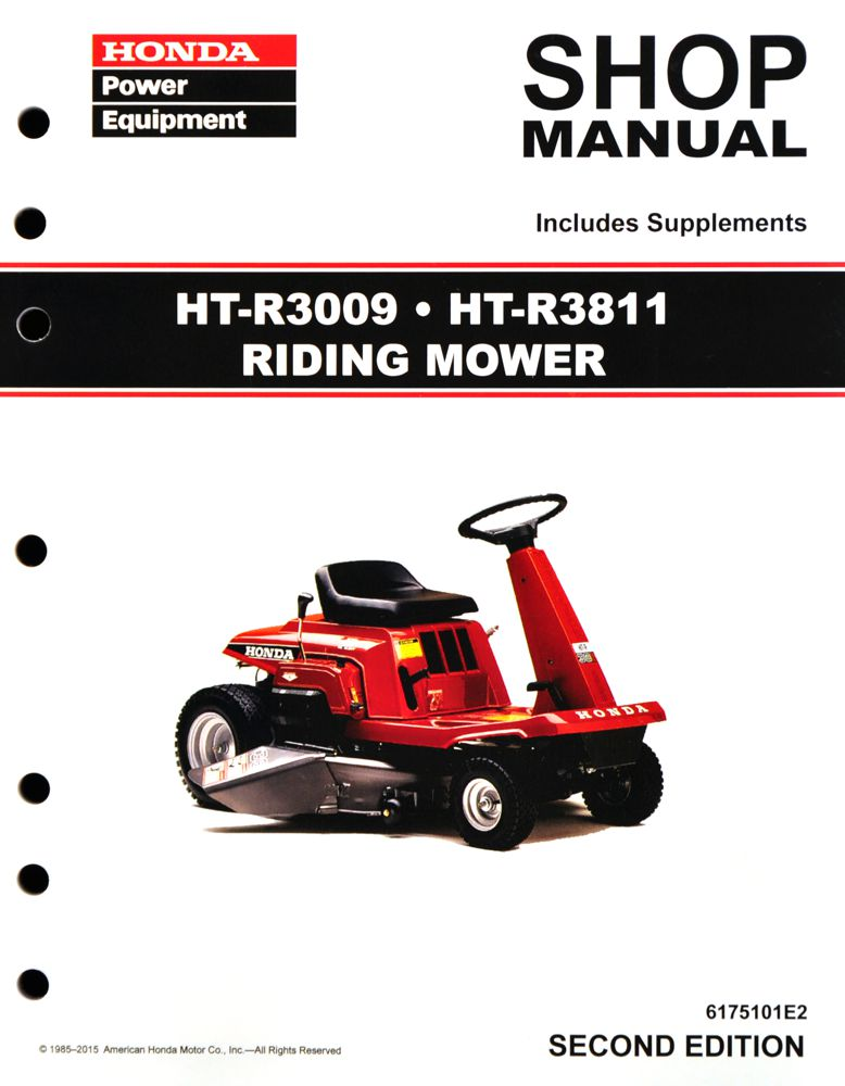 honda power equipment shop manuals publications honda power rh publications powerequipment honda com Honda Riding Mower Deck Honda 4013 Riding Mower