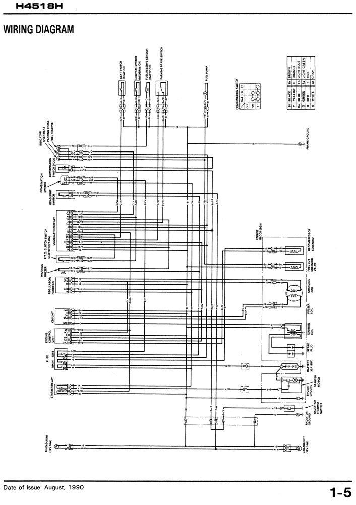 [SCHEMATICS_4CA]  H4518H Lawn Tractor Shop Manual | Honda Power Products Support Publications | Honda 4518 Wiring Diagram |  | Honda Power Products Support Publications