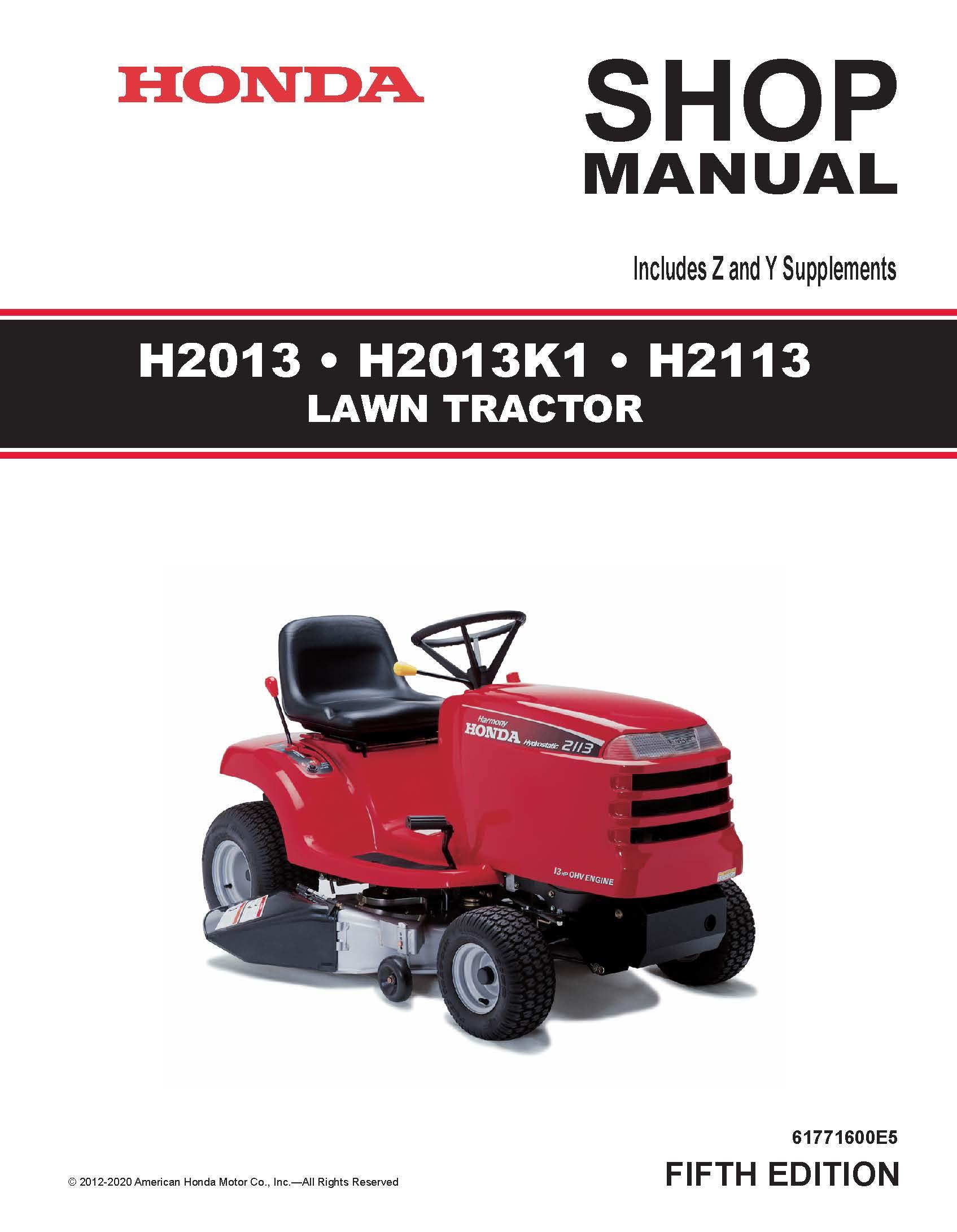 Honda hr215 sx manual user