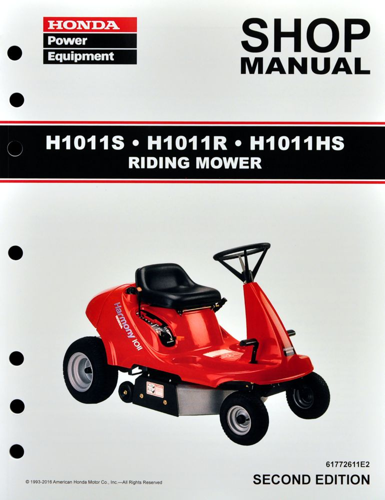 honda power equipment shop manuals publications honda power rh publications powerequipment honda com Honda HRM215 Service Manual Online Honda Harmony HRM 215