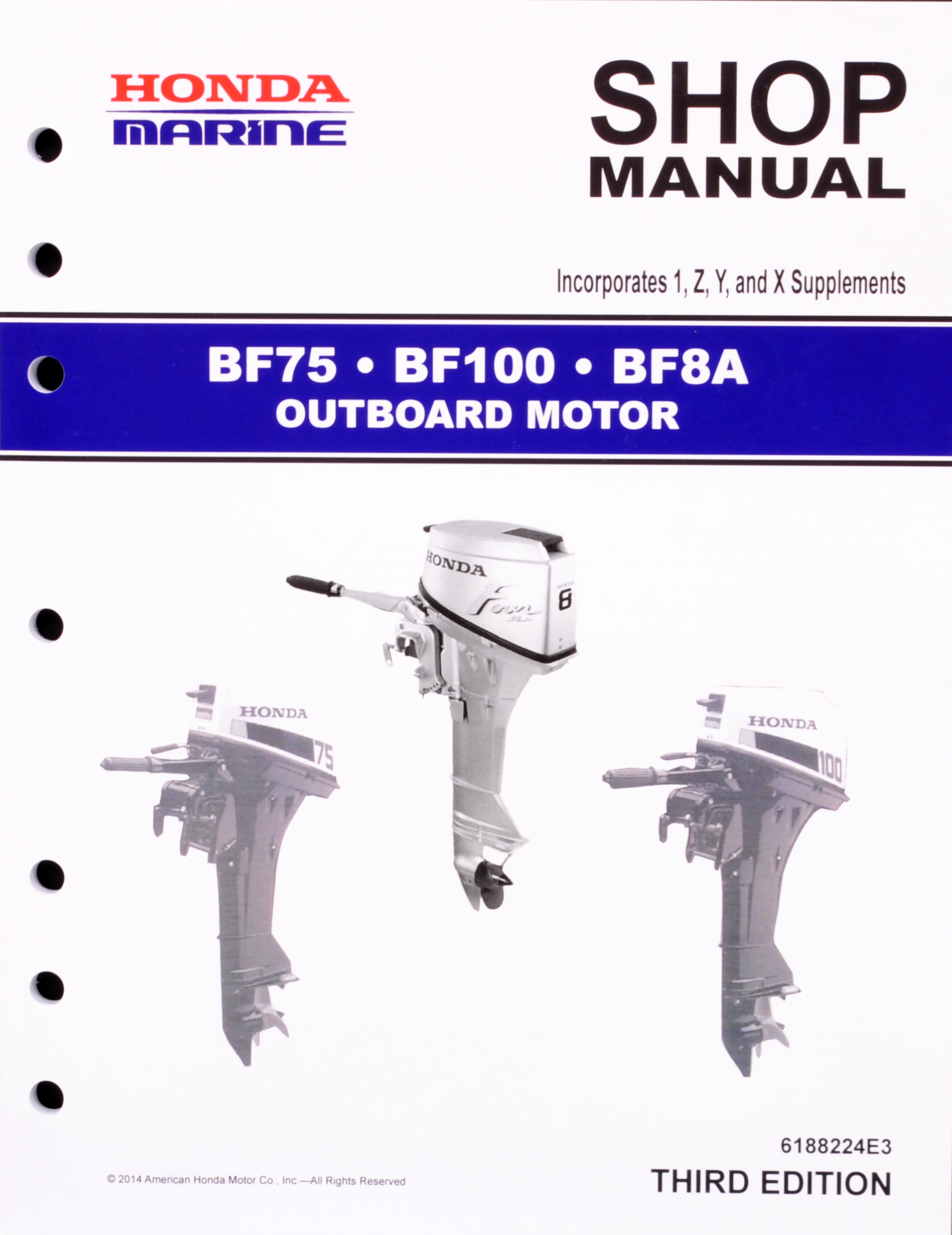 BF75 BF100 BF8A Marine Outboard Motor Shop Manual