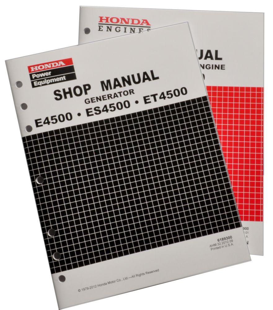 E4500 ES4500 Generator Shop Manual