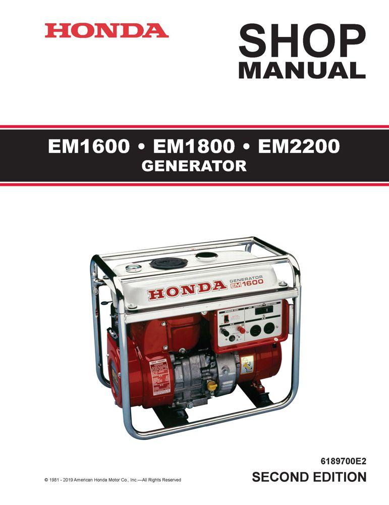EM1600 EM1800 EM2200 Generator Shop Manual   Honda Power