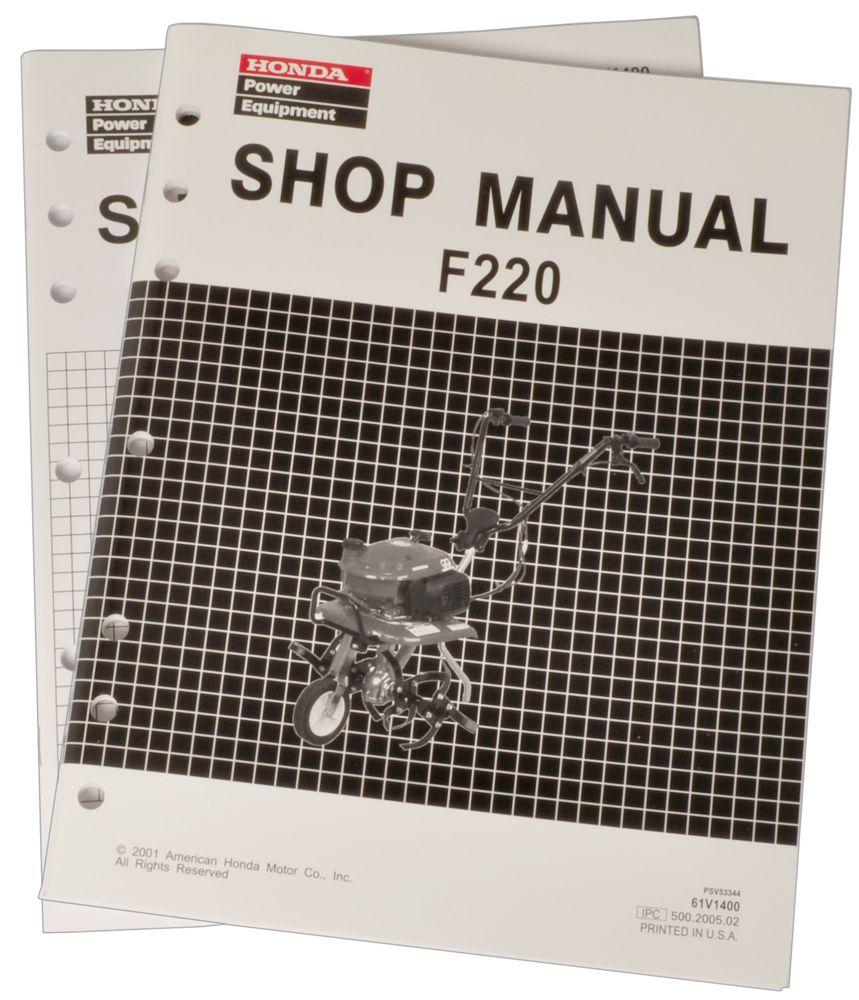 Honda F220 Tiller Service Repair Shop Manual