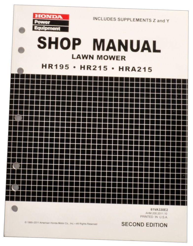 honda hr195 hr215 hra215 lawn mower service repair shop manual rh publications powerequipment honda com Honda Lawn Mower Carburetor Repair honda hr195 lawn mower manual