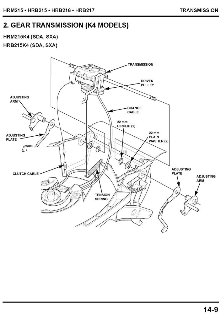 honda hrb215 hrb216 hrb217 hrm215 lawn mower service repair shop rh publications powerequipment honda com honda hrb 215 manual Honda Harmony 5.0