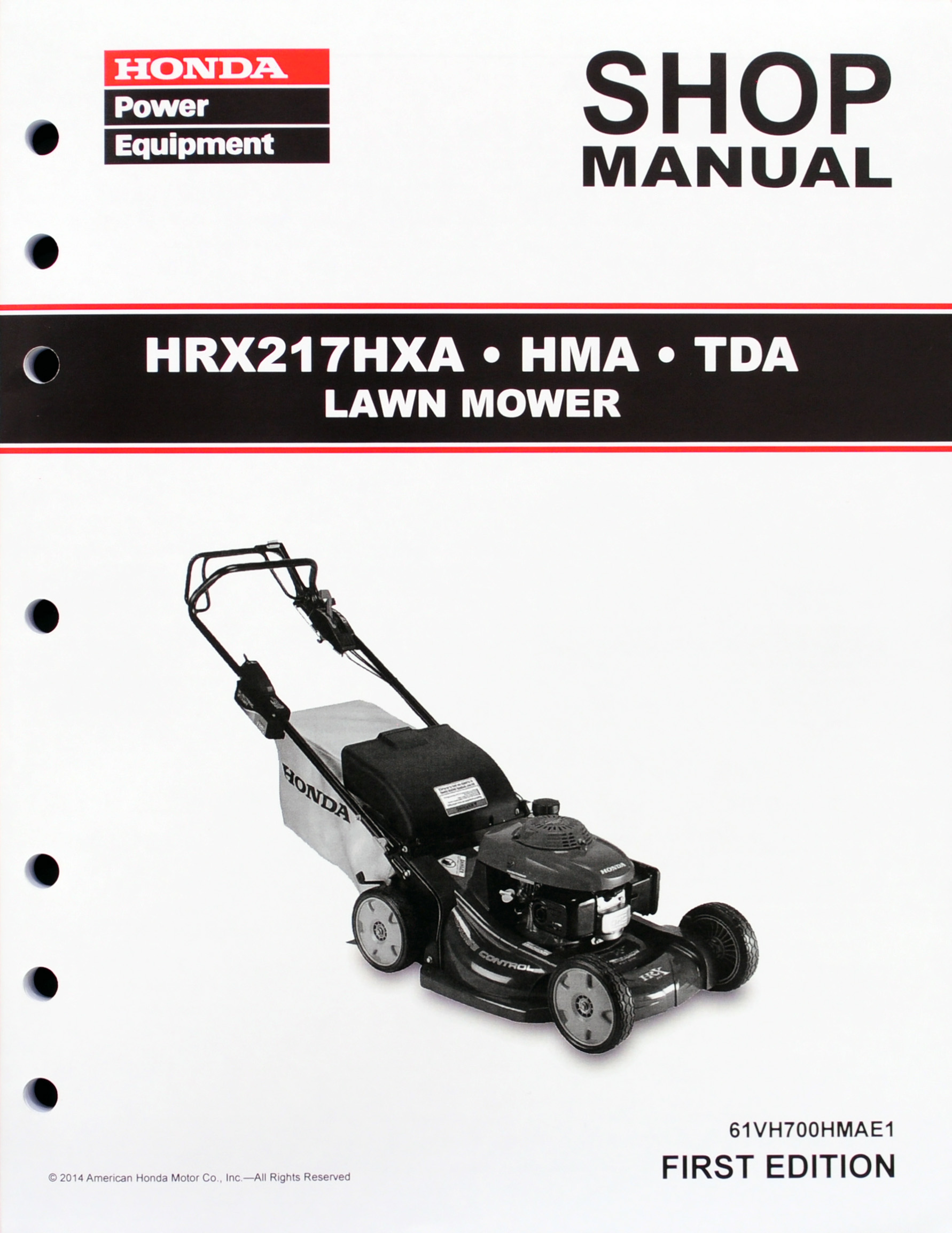 HRX217 HMA HXA TDA Lawn Mower Shop Manual