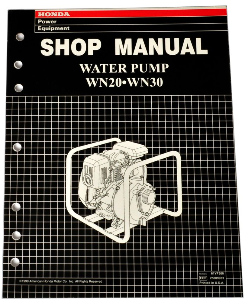 WN20 WN30 Water Pump Shop Manual