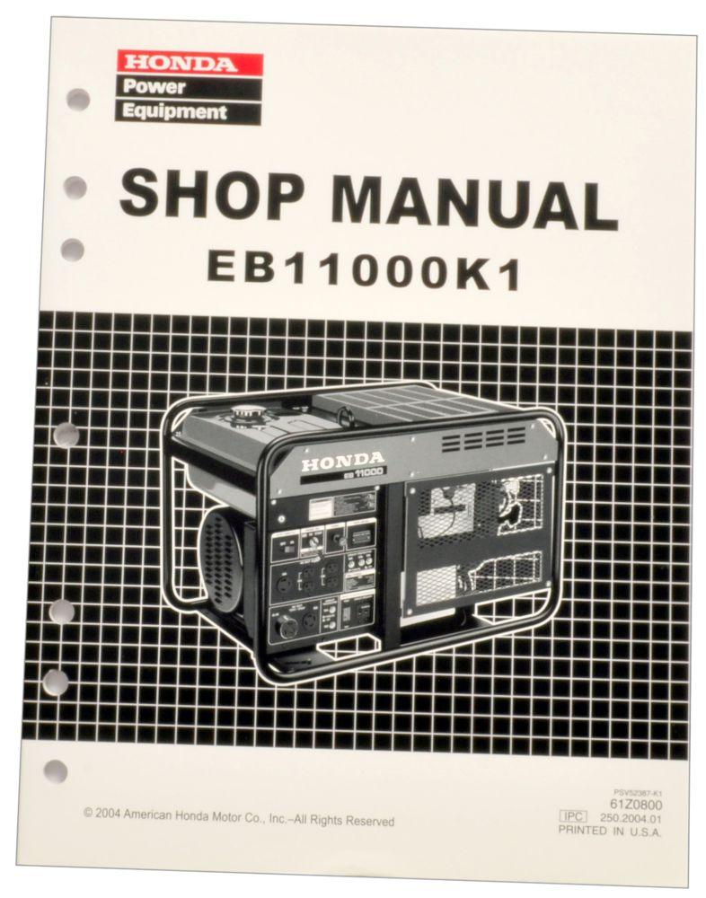 honda eb11000 k1 generator service repair shop manual honda power rh publications powerequipment honda com Honda Service Manual PDF Honda GX340 Service Manual