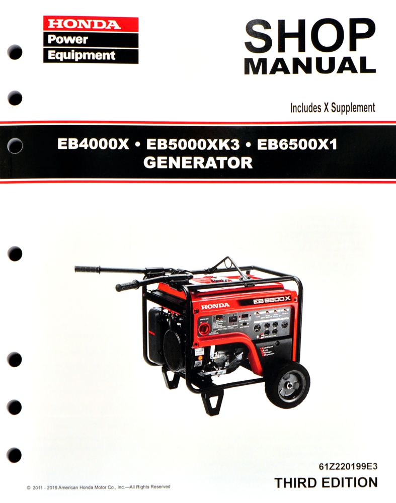 EB4000 EB5000 EB6500 Generator Shop Manual