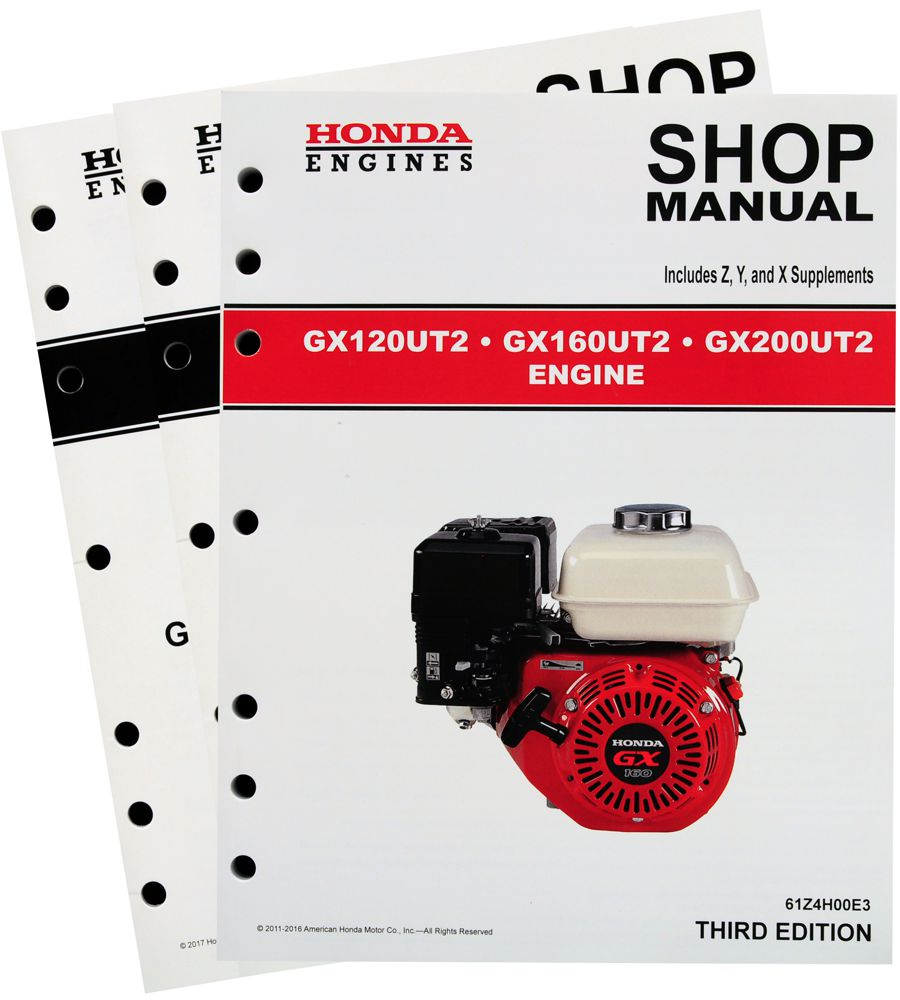 honda gx120 gx160 gx200 ut2 engine service repair shop manual rh publications powerequipment honda com Honda GX160 Troubleshooting Honda GX160 Air Filter