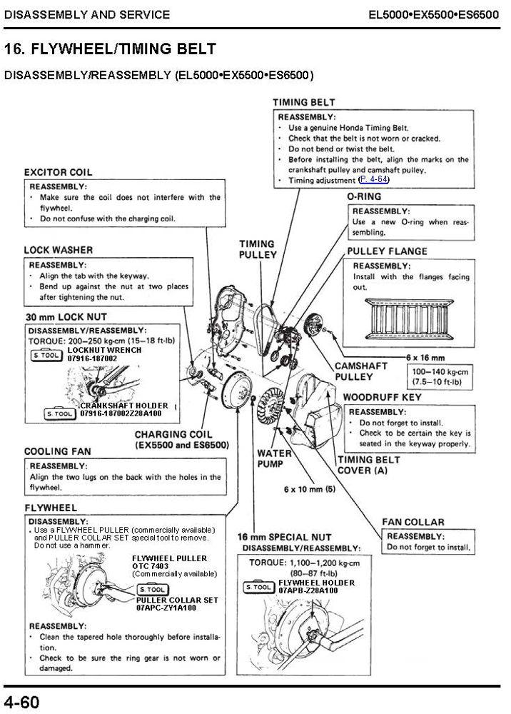 Honda generator em650 service manual youtube.
