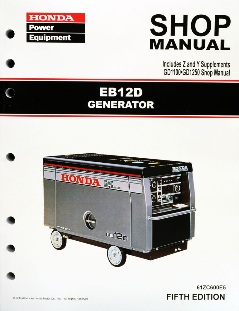 eb12d generator shop manual