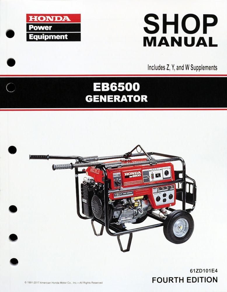 honda eb6500 generator service repair shop manual honda power rh publications powerequipment honda com Honda Power Equipment Parts Lookup Honda Power Equipment Parts Lookup