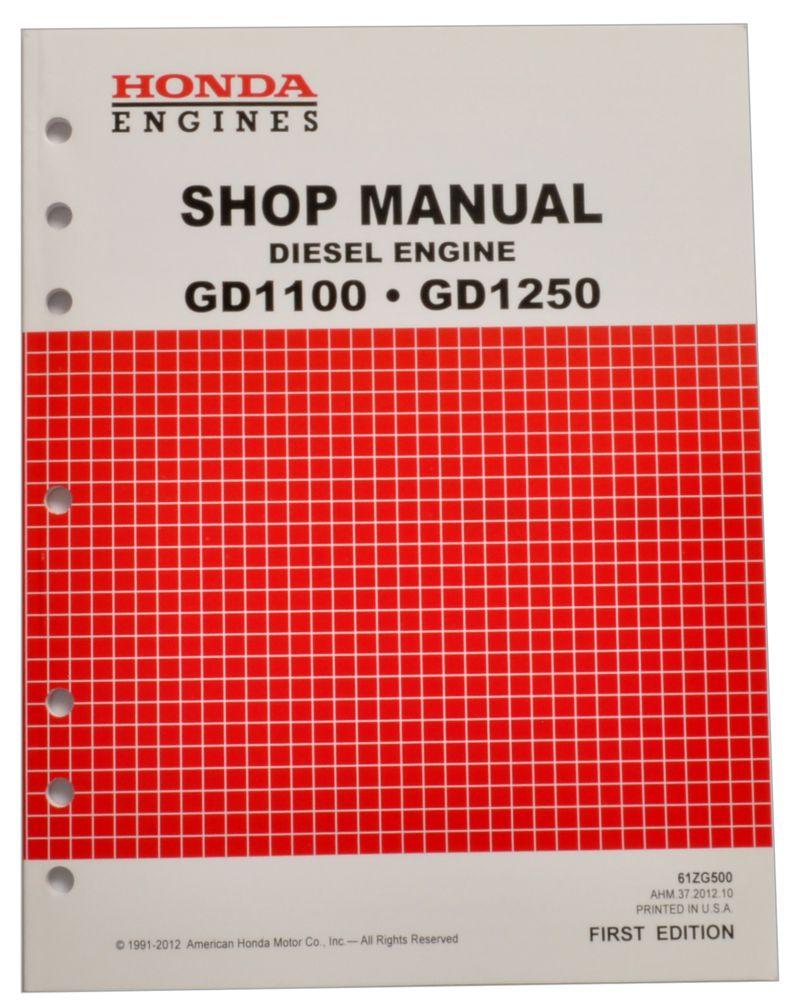 Honda GD1100 GD1250 Engine Service Repair Shop Manual