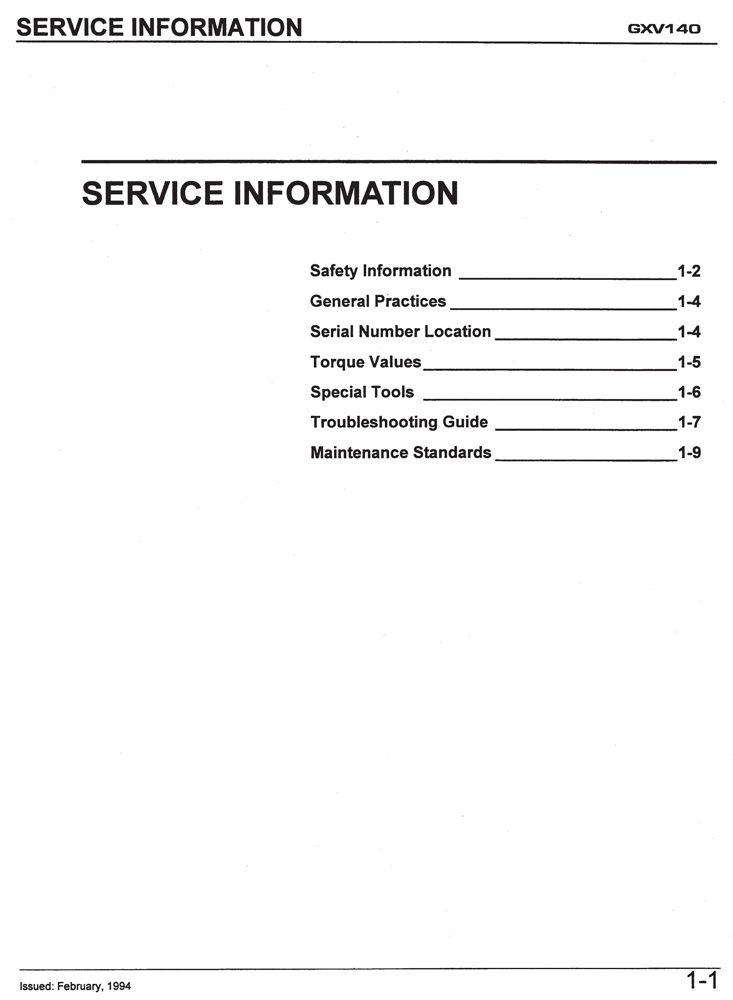 honda gxv140 engine service repair shop manual honda power rh publications powerequipment honda com honda gxv140 service manual honda gxv140 engine service repair shop manual