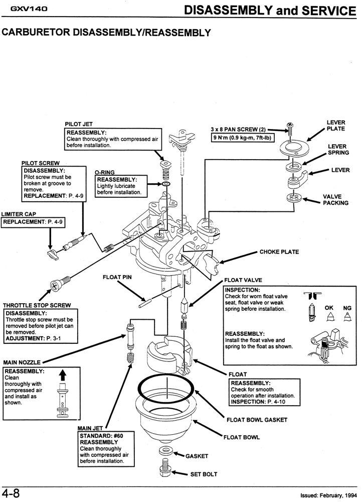 honda gxv140 engine service repair shop manual honda power rh publications powerequipment honda com Honda Gxv530 honda gxv140 service manual