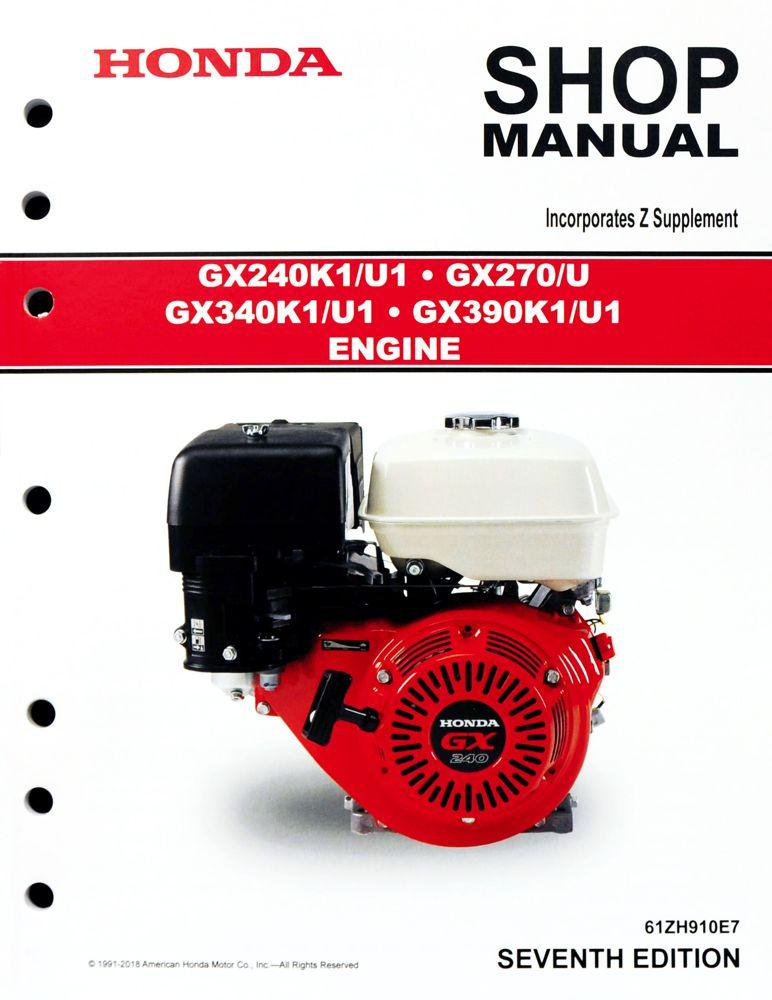 honda gx240 gx270 gx340 gx390 engine service repair shop manual rh publications powerequipment honda com Honda GX340 Shop Manual honda gx270 shop manual download