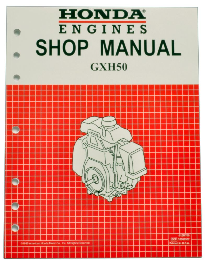 Honda GXH50 Engine Service Repair Shop Manual