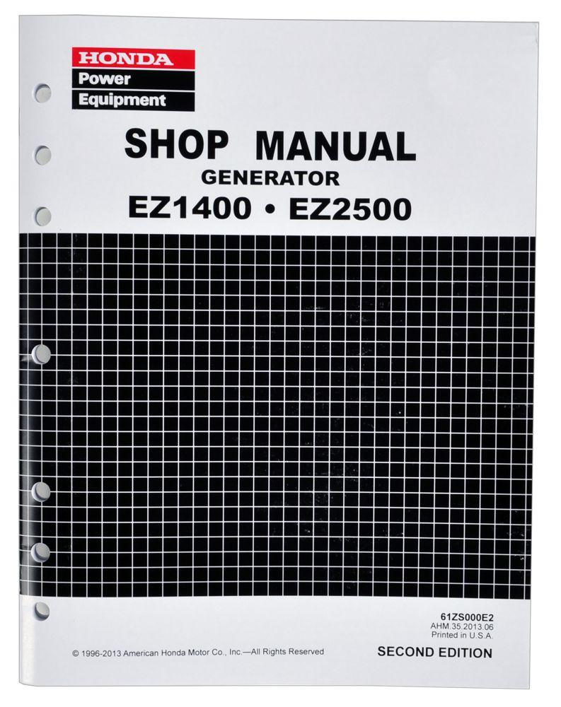 Honda Ez1400 Ez2500 Generator Service Repair Shop Manual Schematics