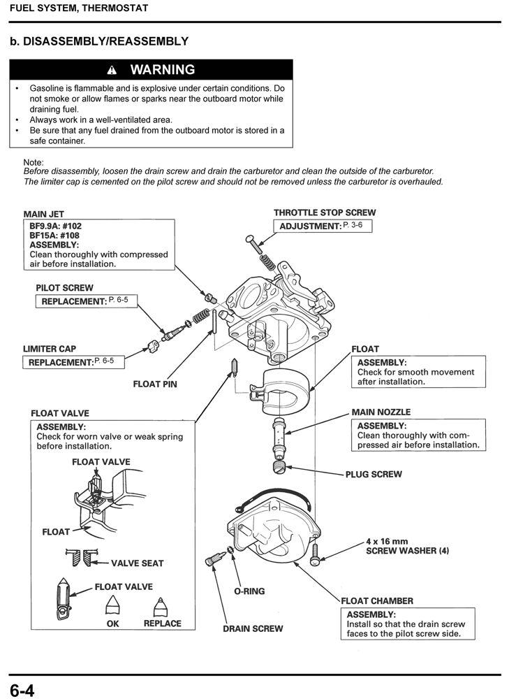 BF9 9A BF15A Marine Outboard Motor Shop Manual   Honda Power