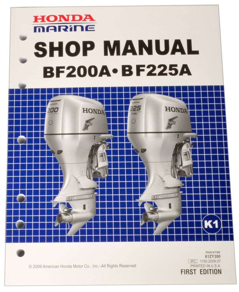 BF200A BF225A K1 K2 Marine Outboard Motor Shop Manual
