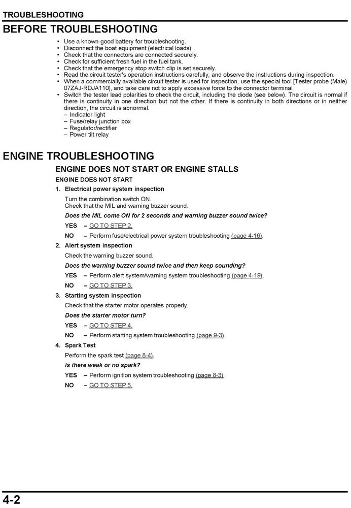 honda bf2 3 shop manual