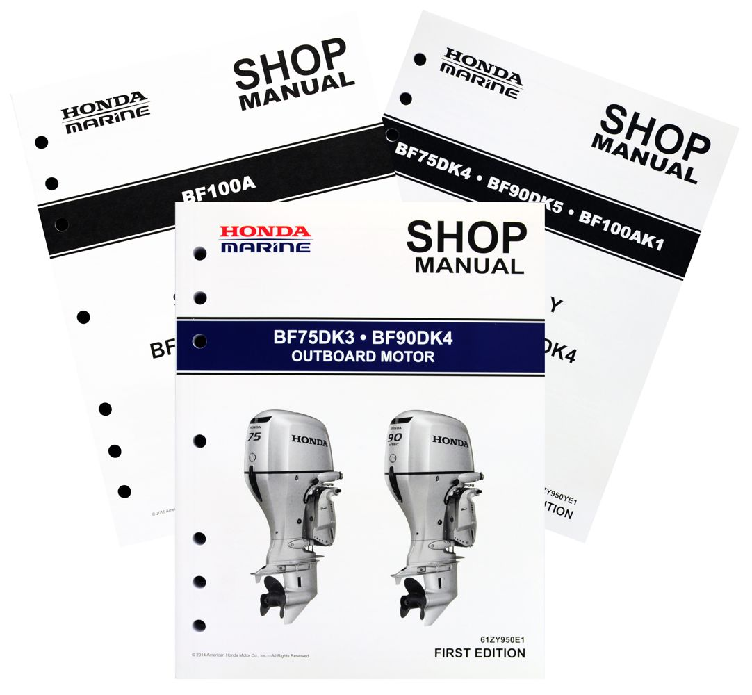 BF75D BF90D BF100A Model Marine Outboard Motor Shop Manual
