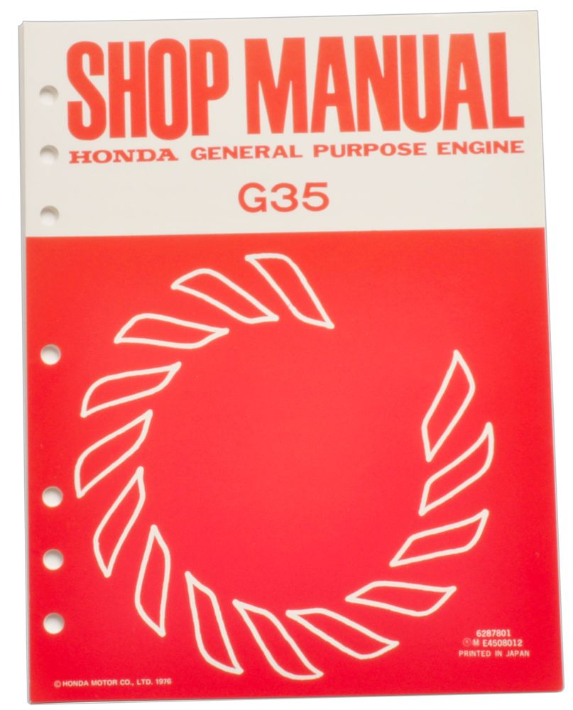 Honda G35 Engine Service Repair Shop Manual