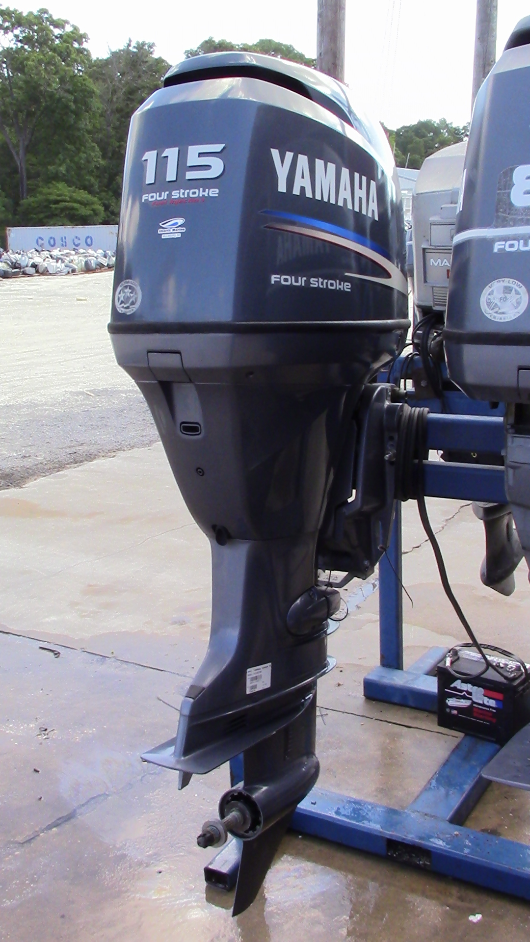 Used 2008 yamaha f115txr 115hp 4 stroke outboard boat for Best prop for 25 hp yamaha 2 stroke