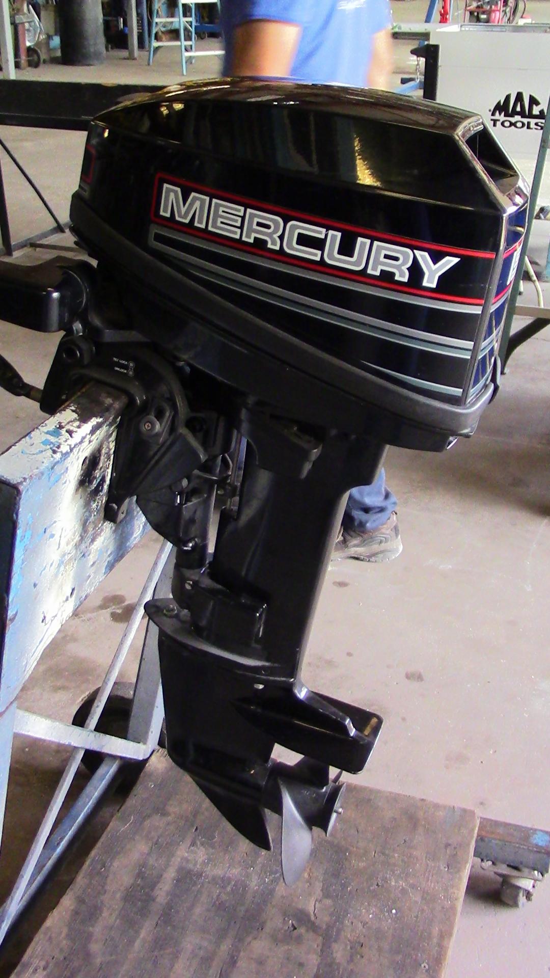 Used 1994 mercury 15mh 15hp 2 stroke tiller outboard boat for Ebay boat motors outboard